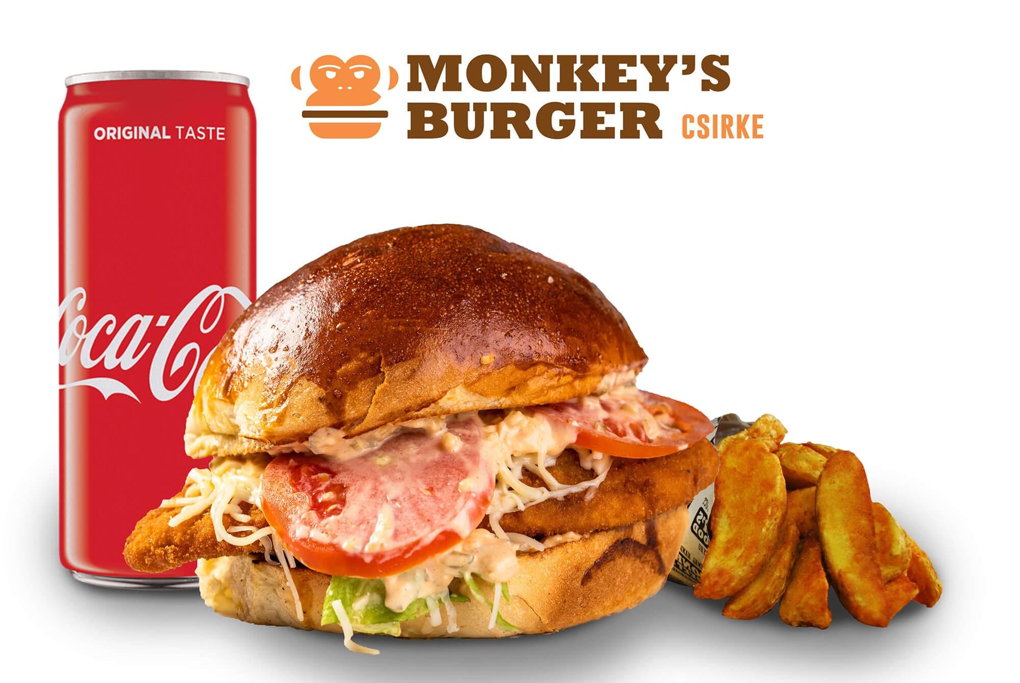 Csirkeburger Menü